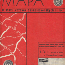 Mapa o stavu vozovek československých silnic, 1935, inv. č. 20.76