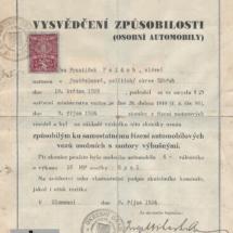 Vysvědčení způsobilosti, 1934, inv. č. 20.187
