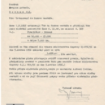 Ustanovení do funkce cestáře, 1956, inv. č. 20.250