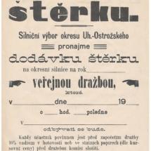 Pronájem štěrku, 1916, inv. č. 20.405