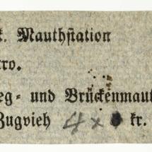 Mýtné a mostné, polovina 19. století, inv. č. 20.45