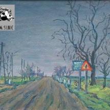 Silnice k Říčanům, olej na lepence, 1963, inv. č. 20.507