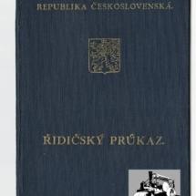Řidičský průkaz, 1937, inv. č. 20.596