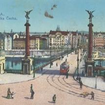 Pohled na most Svatopluka Čecha v Praze, počátek 20. století, inv. č. 20.664