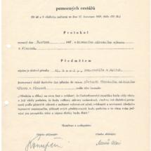 Služební přísaha pomocných cestářů, 1947, inv. č. 20.856/2