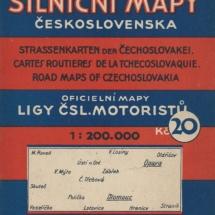 Škorpilova silniční mapa, 30. léta 20. století, inv. č. 20.908