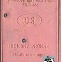 Řidičský průkaz, 1965, inv. č. 20.959
