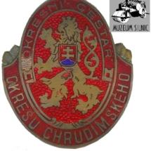 Služební odznak, 30. léta 20. století, inv. č. 30.142