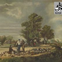 Cestáři, olej na dřevě, 1. třetina 20. století, inv. č. 30.670