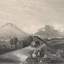 Brno - železniční viadukt, oceloryt, 1860, inv. č. 70.69