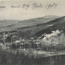 Sobotín - železárny, pohlednice, 1904, inv. č. 70.95